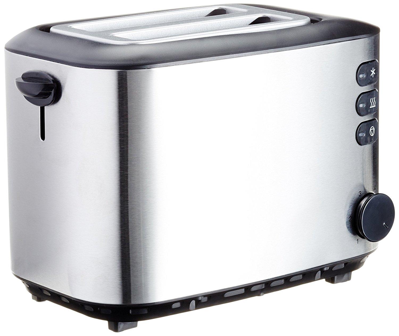 [Amazon] AmazonBasics Toaster, Leistung: 850 W, gebürsteter Edelstahl