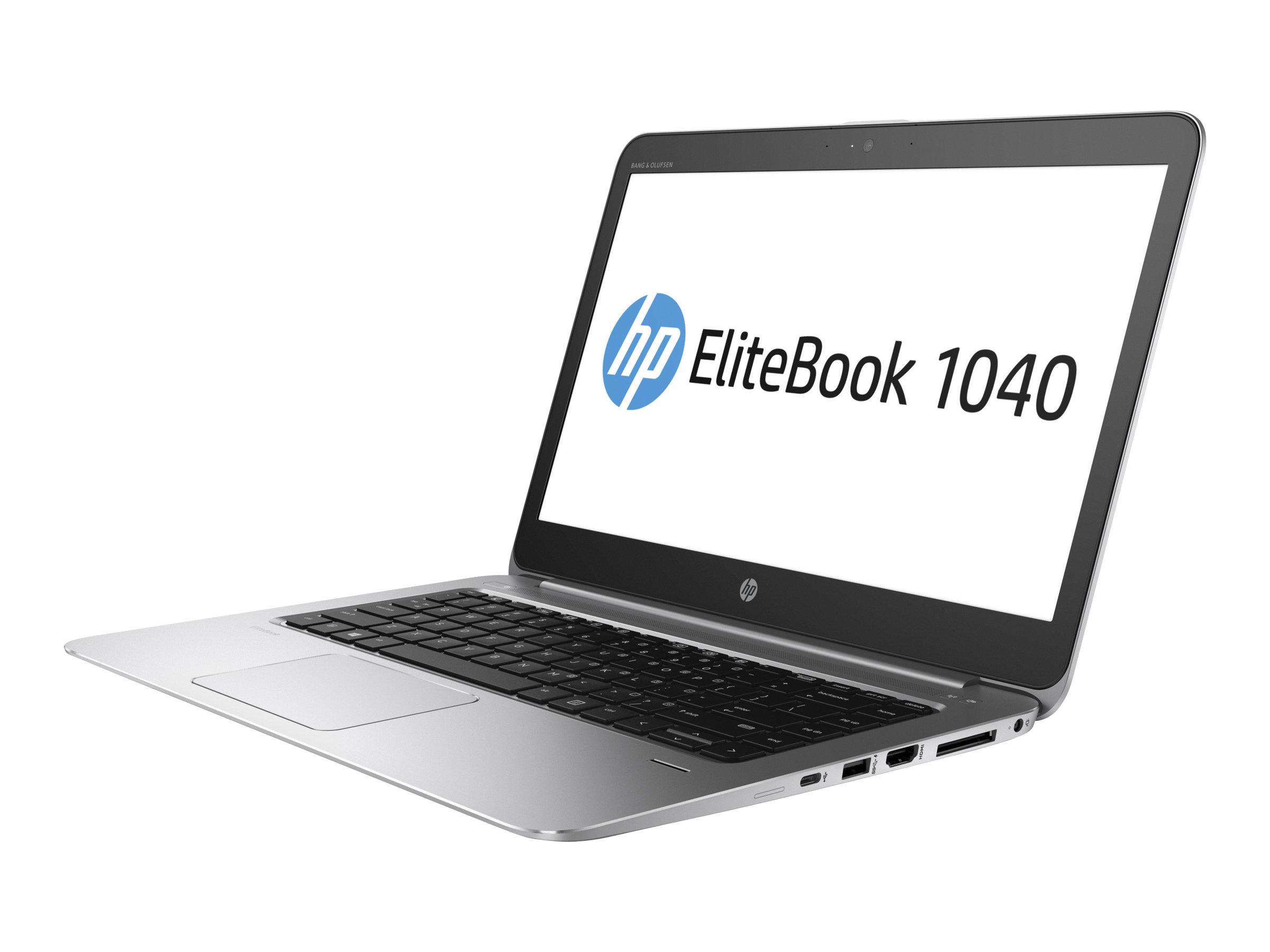 """[Easynotebooks] HP EliteBook 1040 G3 - Core i5 6300U / 2.4 GHz - Win 7 Pro 64-bit (mit Win 10 Pro 64-bit Lizenz) - 16 GB RAM - 256 GB SSD - 35.56 cm (14"""") 2560 x 1440 (WQHD) , LTE"""