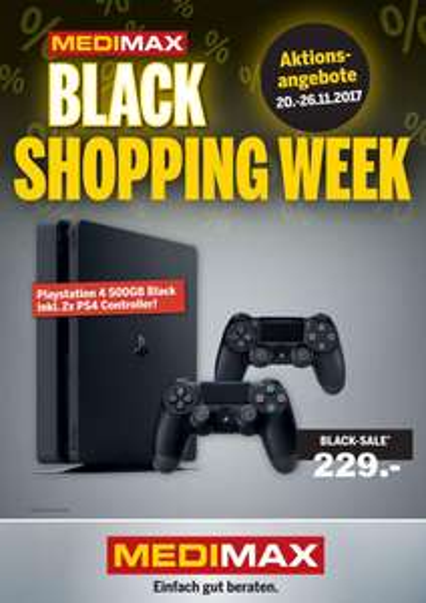 [Medimax] Playstation 4 Slim 500GB + 2ten Controller für 229,- €