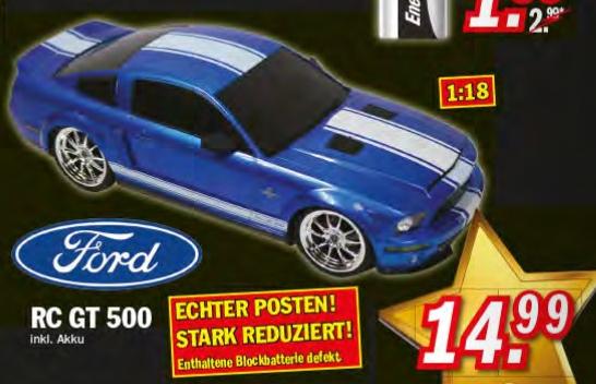[Zimmermann] RC Ford Mustang GT 500 1:18 in Blau für 14,99€
