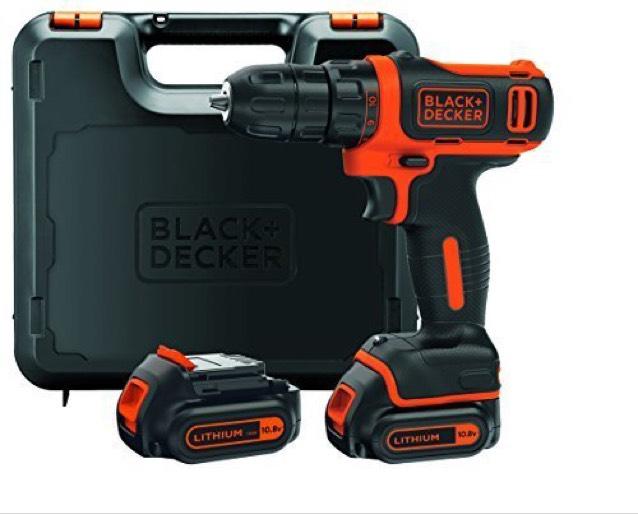 Black + Decker 10,8 V Akkubohrschrauber mit Koffer und 2. Akku als Set