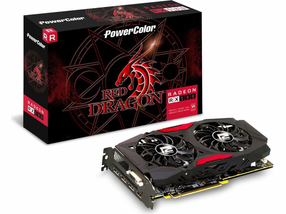 Powercolor Radeon RX 580 Red Dragon 4GB Grafikkarte @computeruniverse