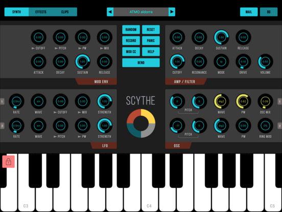 Scythe - Synthesizer für iPad kostenlos statt 4,49€ [iOS]