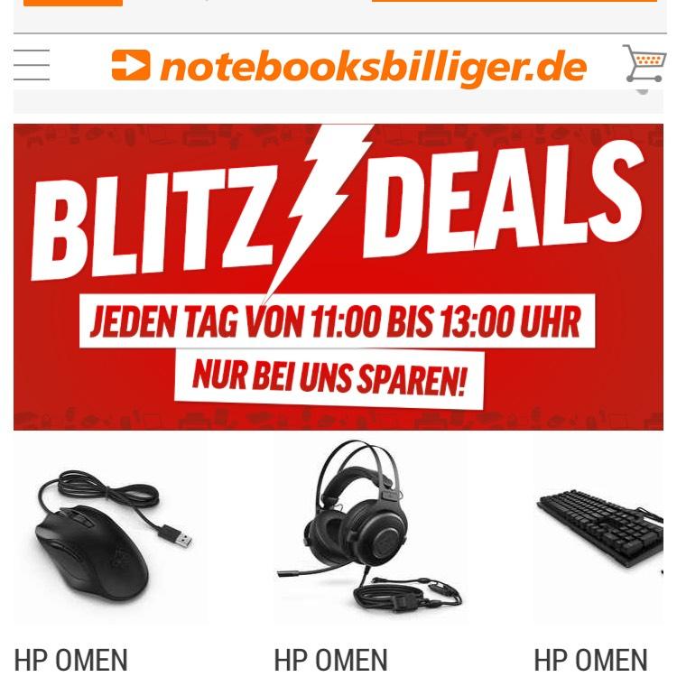 HP Omen Gaming Maus, Headset und Tastatur im Blitzangebot von 11-13Uhr bei NBB