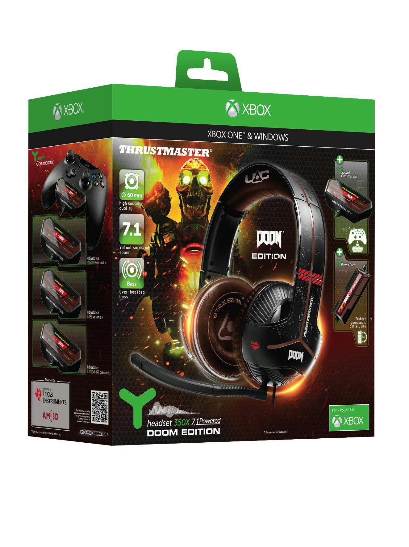 [coolshop]Thrustmaster Y-350X 7.1 Powered Gaming Headset - DOOM Edition (xbox/win10) UPDATE : AUSVERKAUFT