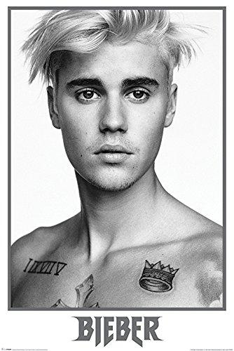 Justin Bieber Schwarz & Weiß Maxi Poster bei Amazon