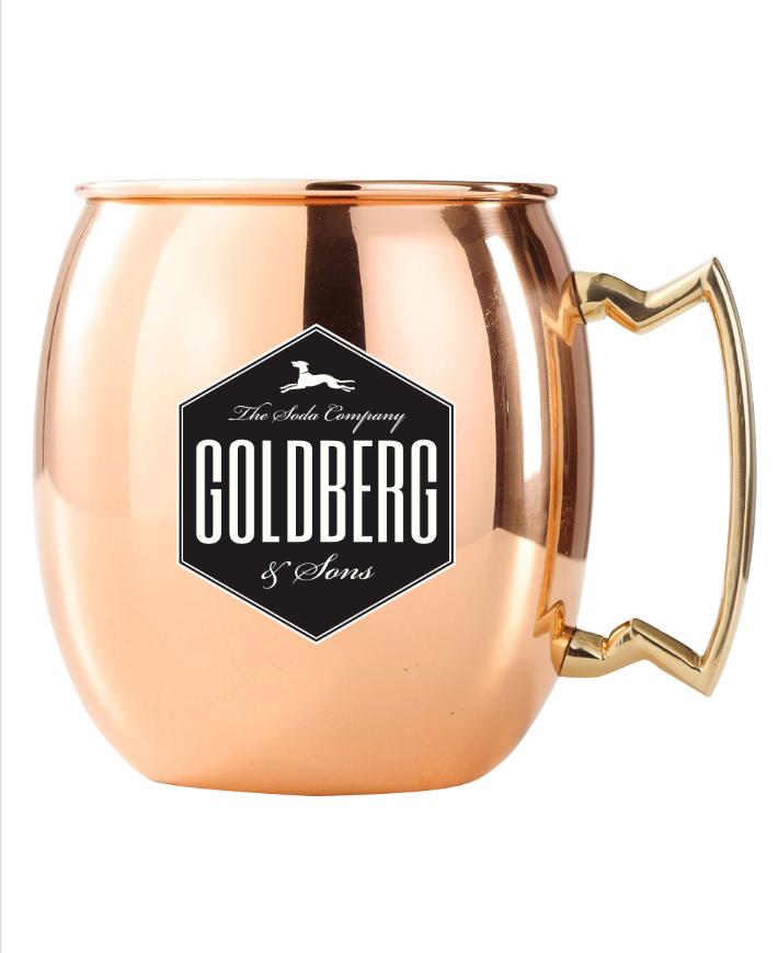 Goldberg Mug Kupfer-/Edelstahl Becher für Moscow Mule inkl. Versand