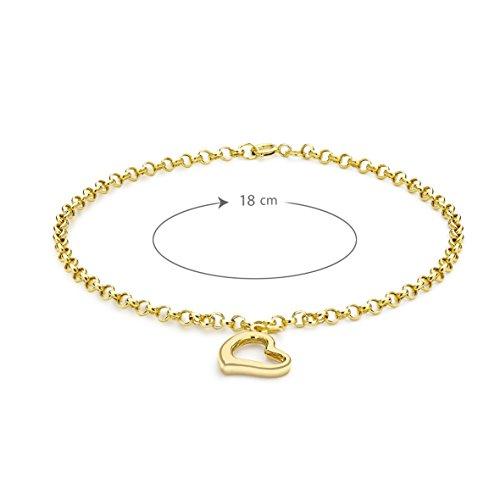 Carissima Gold Armband Herz Anhänger