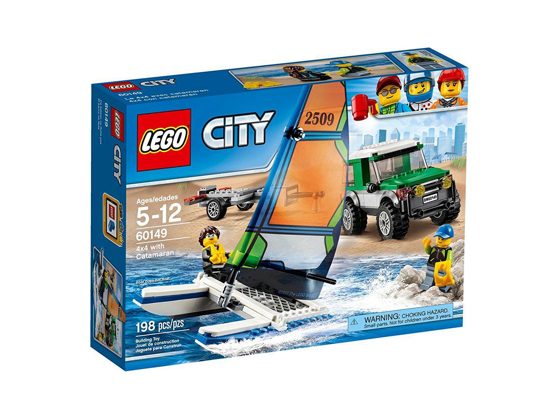 Lego 60149 City Geländewagen mit Katamaran, Kinderspielzeug