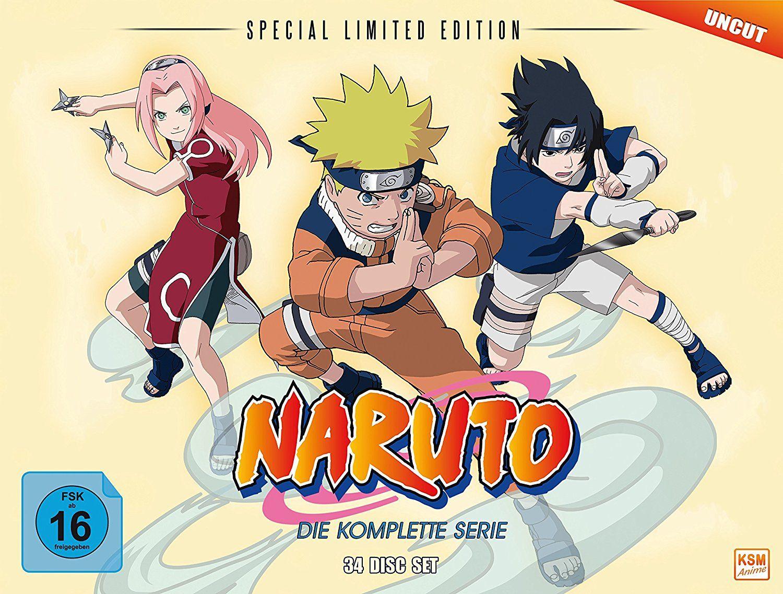 Naruto - Die komplette Serie - Gesamt-Box (Special Limited Edition mit 8 Postkarten & Poster) (34 Disc Set) [amazon.de]