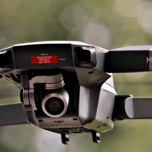 Drohnenplakette Nano