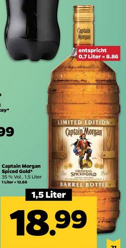 [Berlin] Netto mit Scottie: Captain Morgan Spiced Gold 1,5l Barrel Bottle (12,66 €/l)