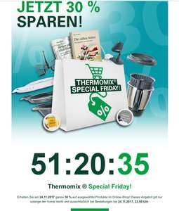 Save the Date: Vorwerk Thermomix Special Black Friday 30% Rabatt auf erlesene Produkte