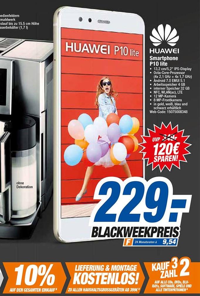 [lokal HEM expert BW] Huawei P10 lite für 229€ - 10% = 206,10€ am Freitag 24. und Samstag 25.11.2017