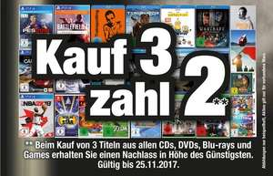 [Lokal Octomedia] Kauf 3 Zahl 2 CD, DVD, BD, Games (Bühl, Lahr, Rastatt und Waldshut-Tiengen)