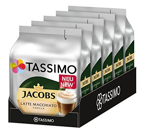 Tassimo Jacobs Latte Macchiato Vanilla[Spar Abo] 5 Packungen