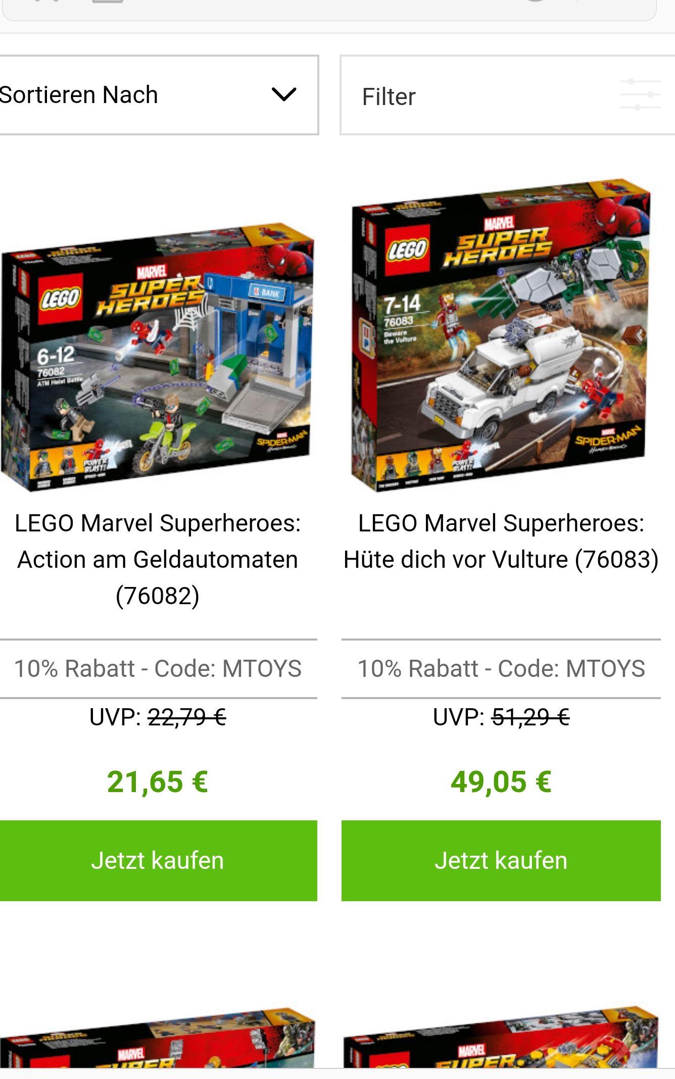 10% auf alle LEGO Marvel Super Heroes Produkte