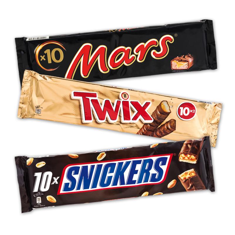 10 er Pack Mars oder Twix oder Snickers für 2,49 EUR ab 24.11. bei Norma