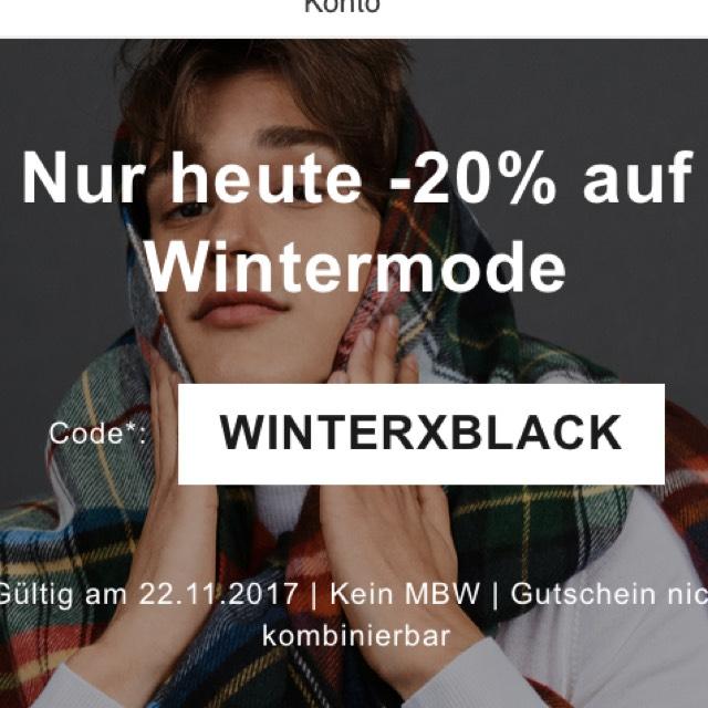 """20% auf """"Wintermode"""" bei Zalando (auch Adidas und Nike)"""