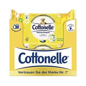 [Amazon] Cottonelle feuchtes Toilettenpapier (auch sensitiv) 12x42