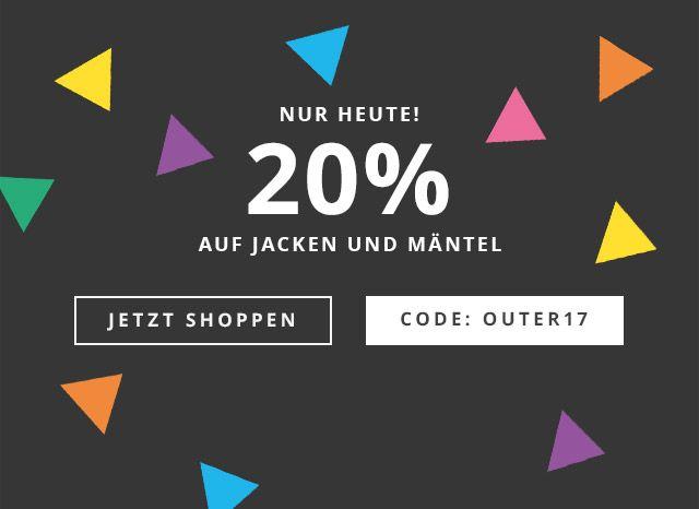 Esprit 20% auf Jacken und Mäntel nur Heute