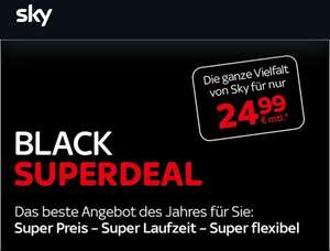Sky Black Friday komplett 6 Monate für mtl. 24,99 eur