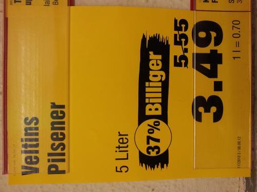 5L-Tönnchen Veltins bei Penny für 3,49€