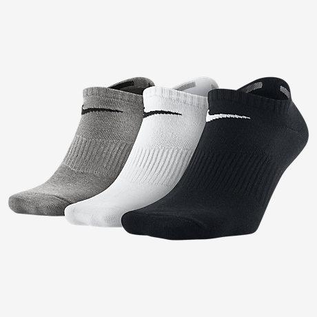 NIKE Sneaker Socken (Lightweight No-Show) 3 Paar( 1x Schwarz,Weiß, Grau)