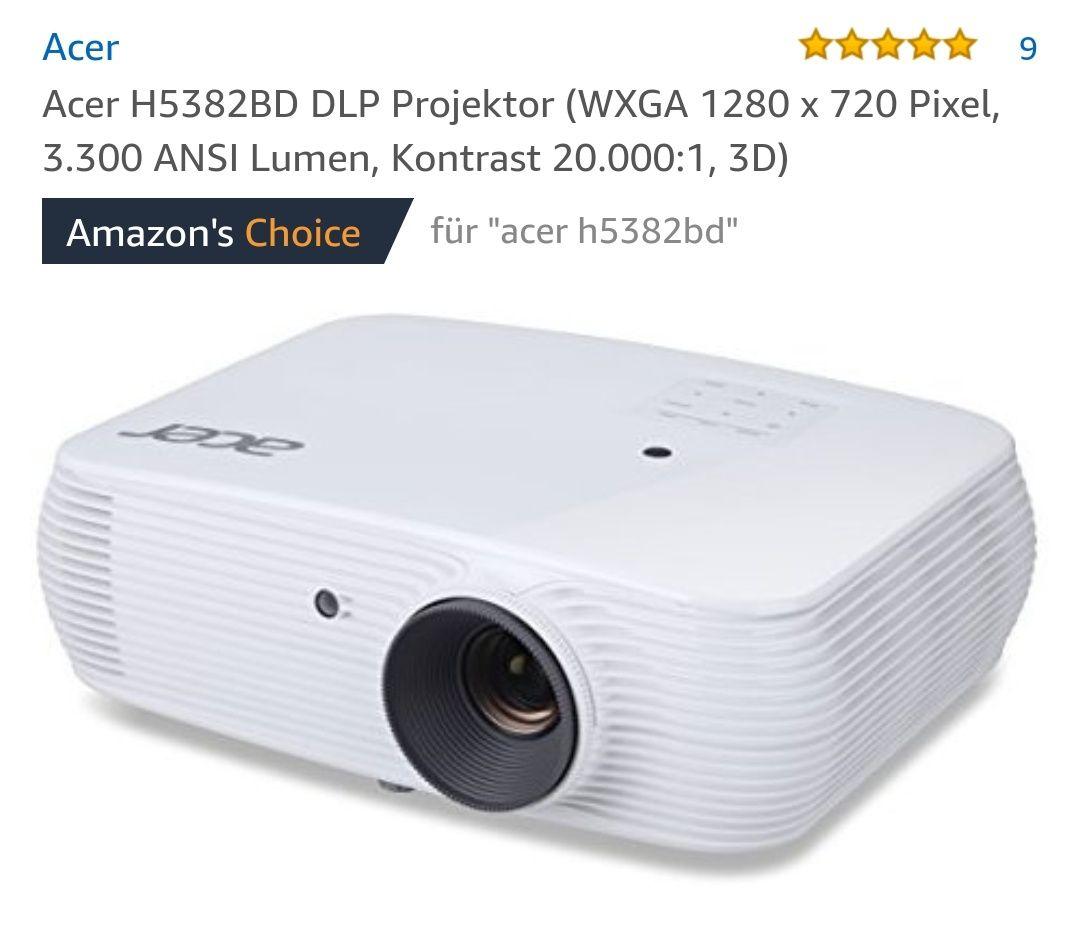 AMAZON: Acer H5382BD DLP Projektor (279,00€)