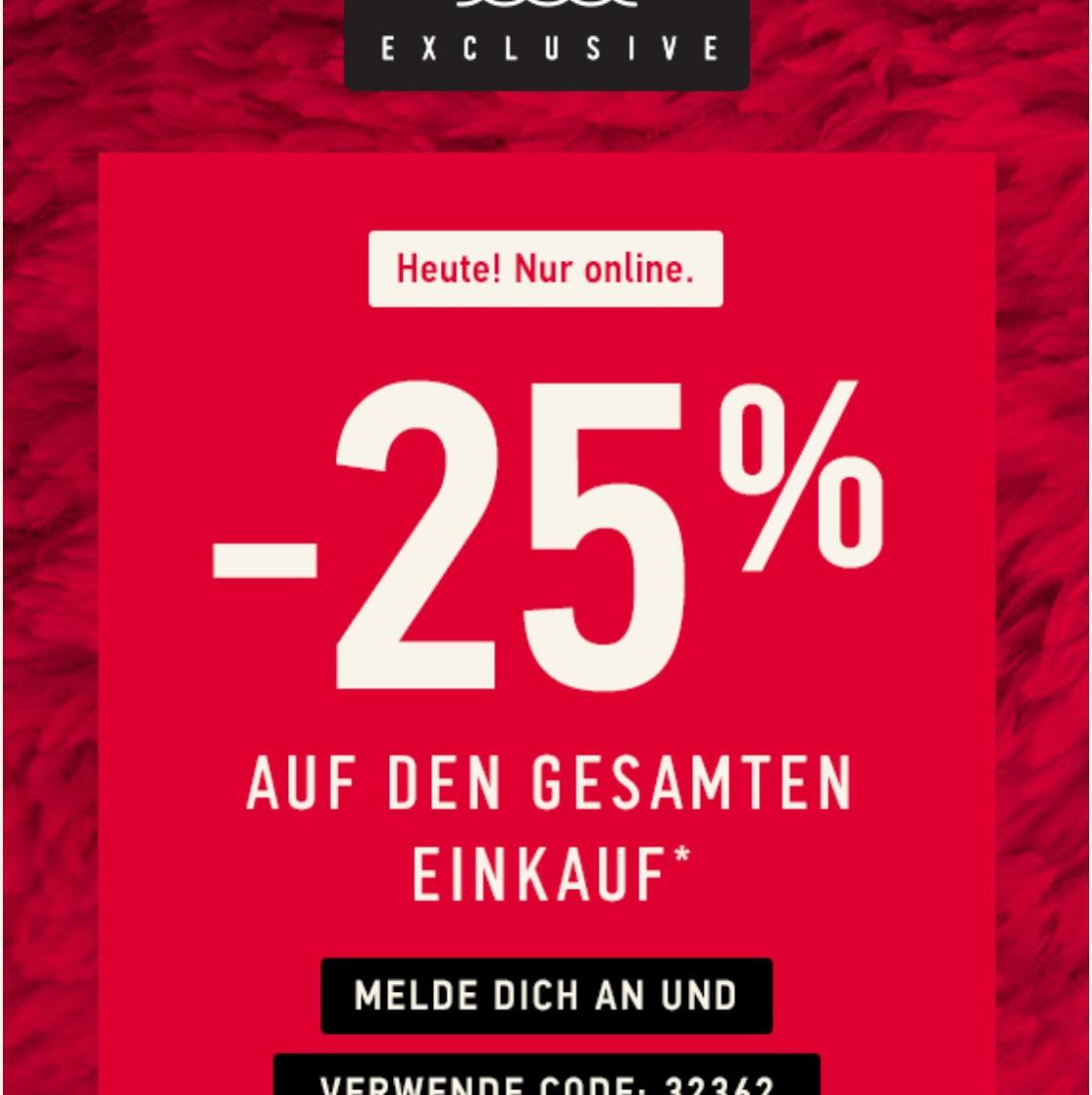 HOLLISTER: -25% Rabatt auf FAST ALLES* + Kostenfreie Lieferung