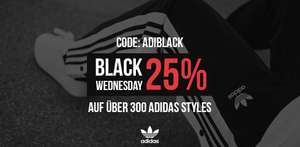 Black ( Wednesday ) Friday Week Sale bei Kickz - 25% auf über 300 Adidas Style