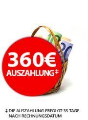 PreisBörse24 - Vodafone Data Go L Datentarif + 360€ Auszahlung = effektiv pro Monat 14,15€