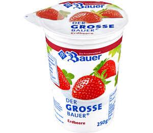 [Kaufland] -40%  BAUER - Der Große Bauer Fruchtjoghurt; vorher 0,65 €