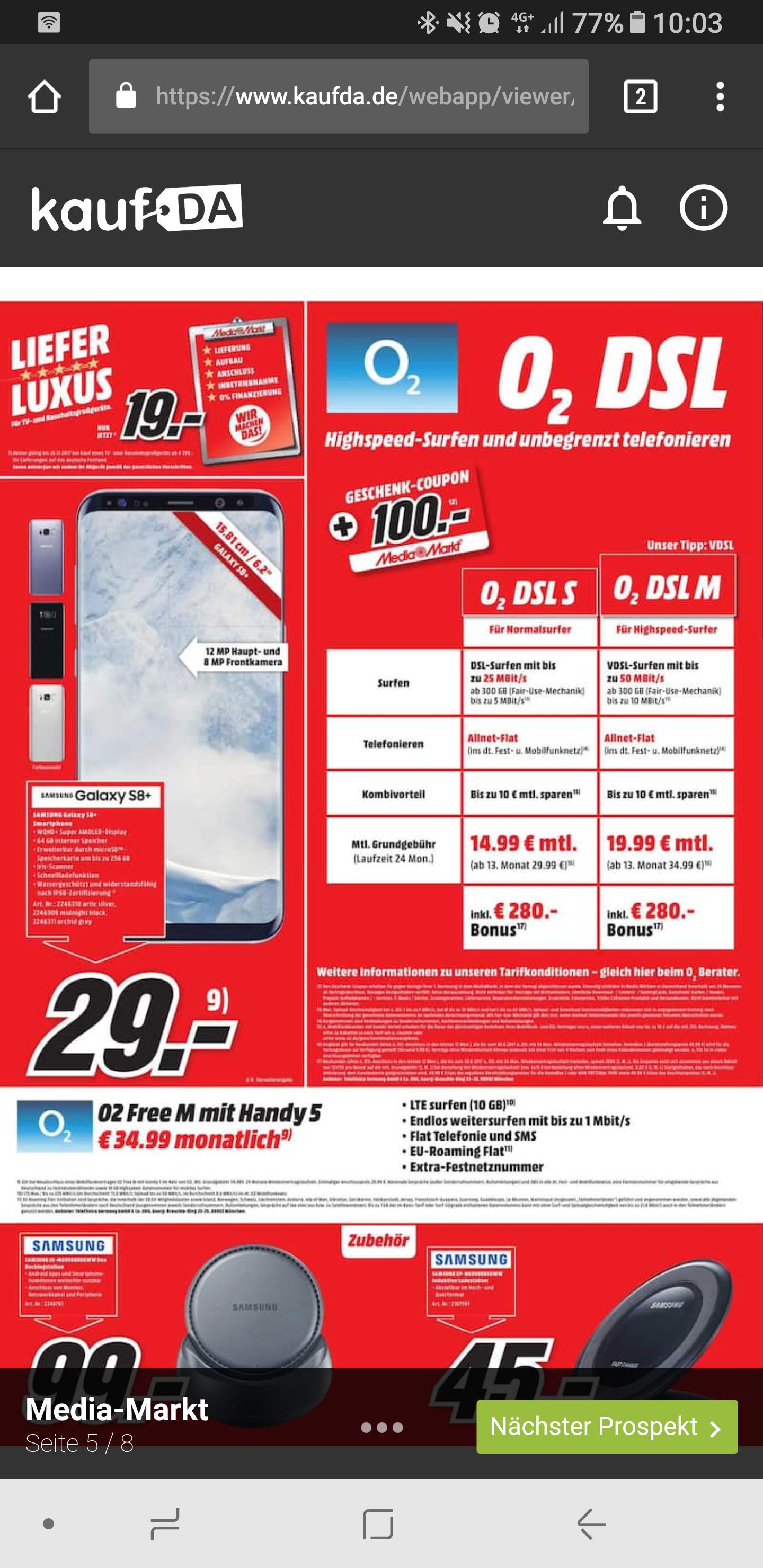 O2 Free M  allnet / 10GB                        839,76€+29€= 868,76€            Handy Samsung Galaxy S8+ bei Ebay 650€            839,76€-650€= 186,76€  : 24 = 7,78€