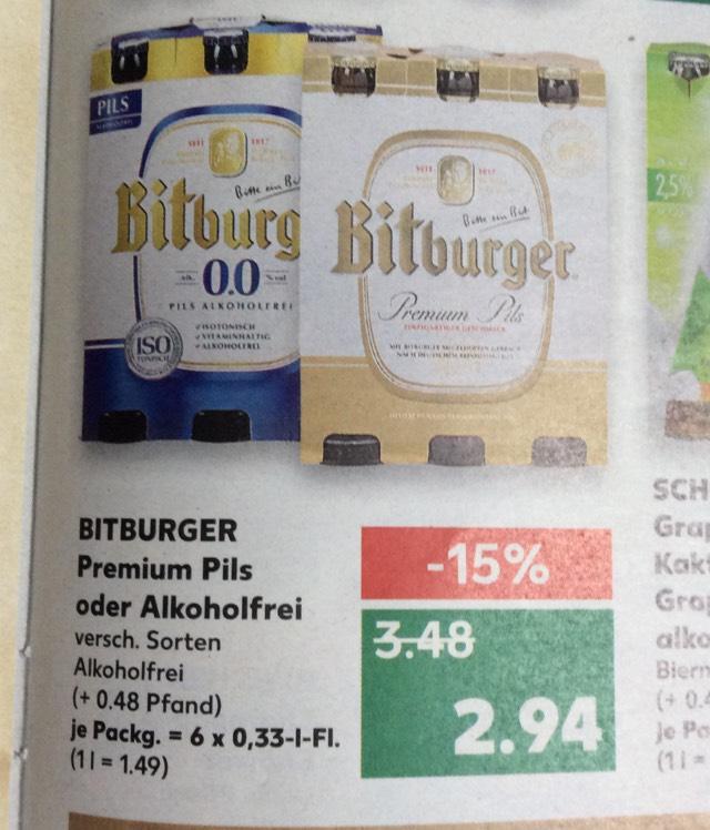 (Kaufland+Coupies) Bitburger für 2,44€