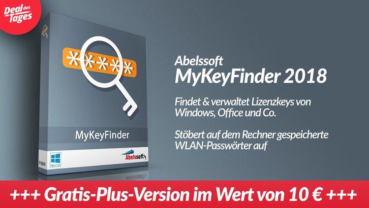 MyKeyFinder 2018 Vollversion jetzt GRATIS