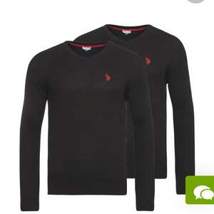 2er Pack U.S. POLO ASSN. V-Ausschitt Herren Pullover Outlet46