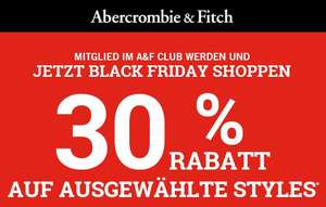 Abercombie&Fitch 30% Rabatt !!!!