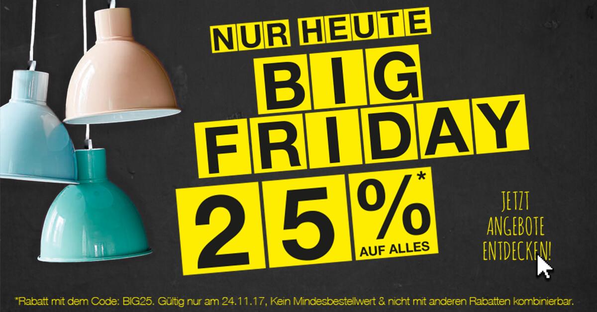 25% Rabatt auf alle Leuchten, Matratzen und Möbel am 24.11.17 bei Lumizil