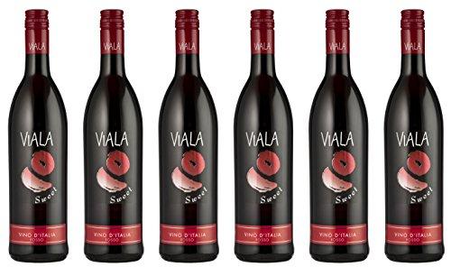 Viala Sweet Vino D'Italia Rosso 2016 (6 x 0.75 l)