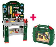 [Toys R Us] Theo Klein Werkbank 8580 + Ixolino Werkzeugkoffer 8394 (+ Füllartikel)