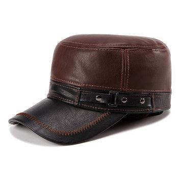 PU Herren Kappe mit Ohrenklappe