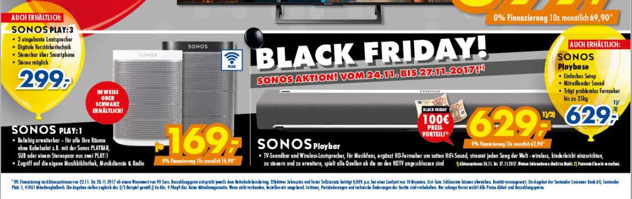 [Lokal Euronics Ratingen] Sonos Play:1 - Sonos Playbar - Sonos Playbase