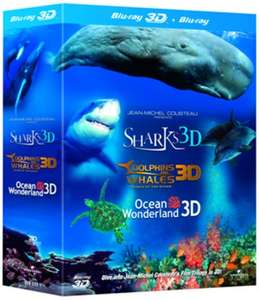 Jean-Michel Cousteau Trilogy (3x 3D Blu-ray) für 5,78€