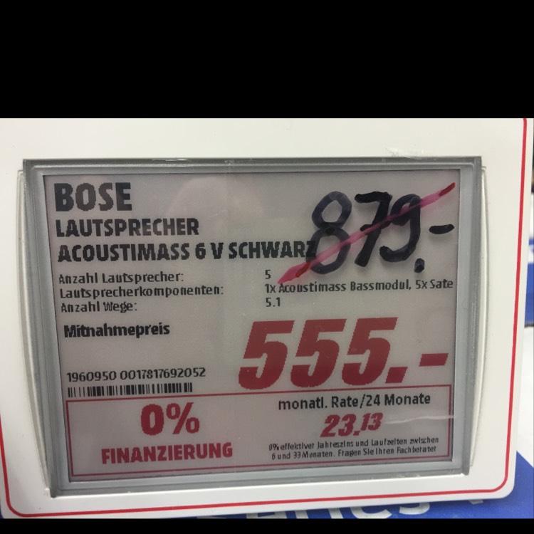 [Lokal Berlin] Bose Acoustimass 6 V schwarz
