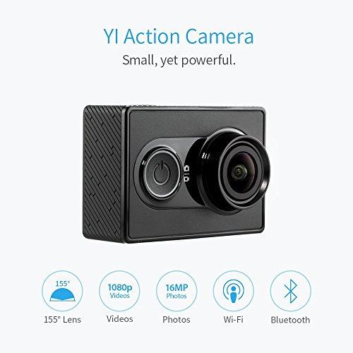 YI 2K Action Kamera Actioncam mit WiFi BT4.0 16MP Sensor aus Sony Ambarella A7LS 2KP30 1080p60 Auflösung, Schwarz inkl. Vsk für ca. 27,18 € (Bestpreis) > [amazon.uk]