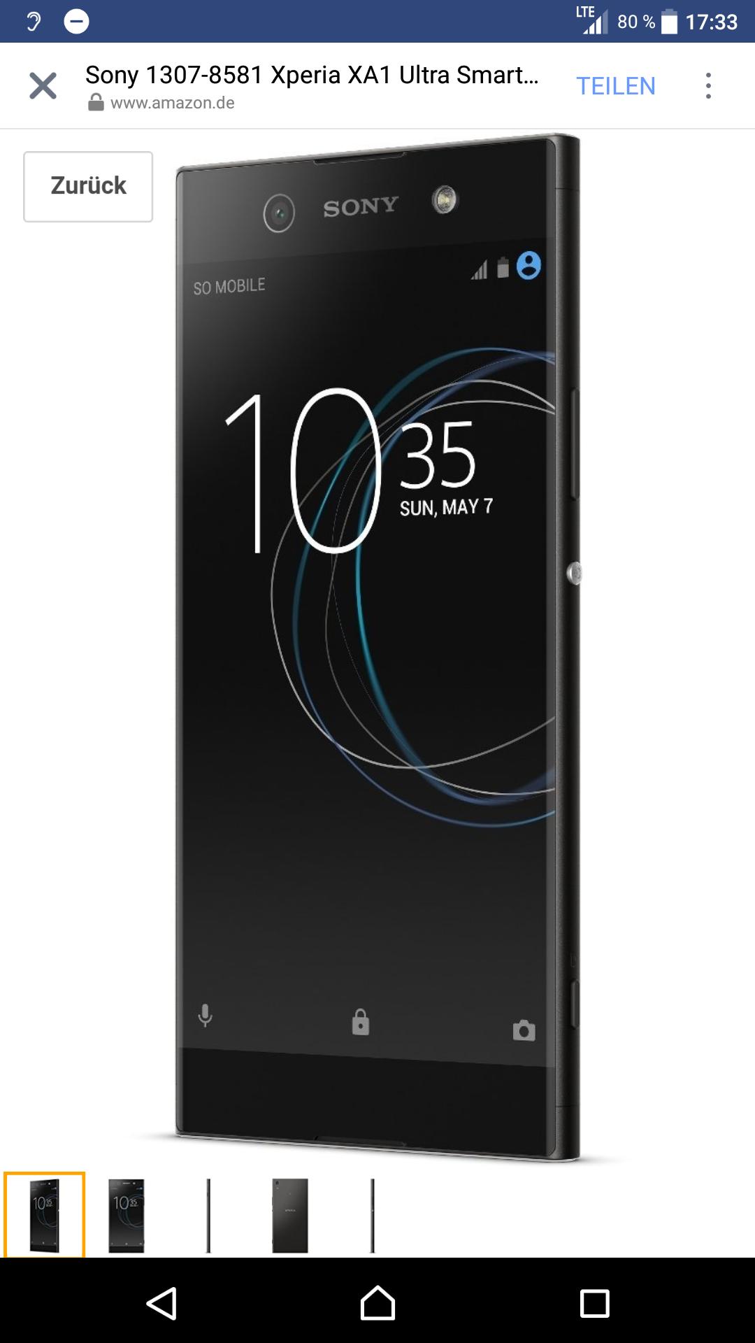 Sony Xperia XA1 Ultra  21% Günstiger [Blitzangebot]
