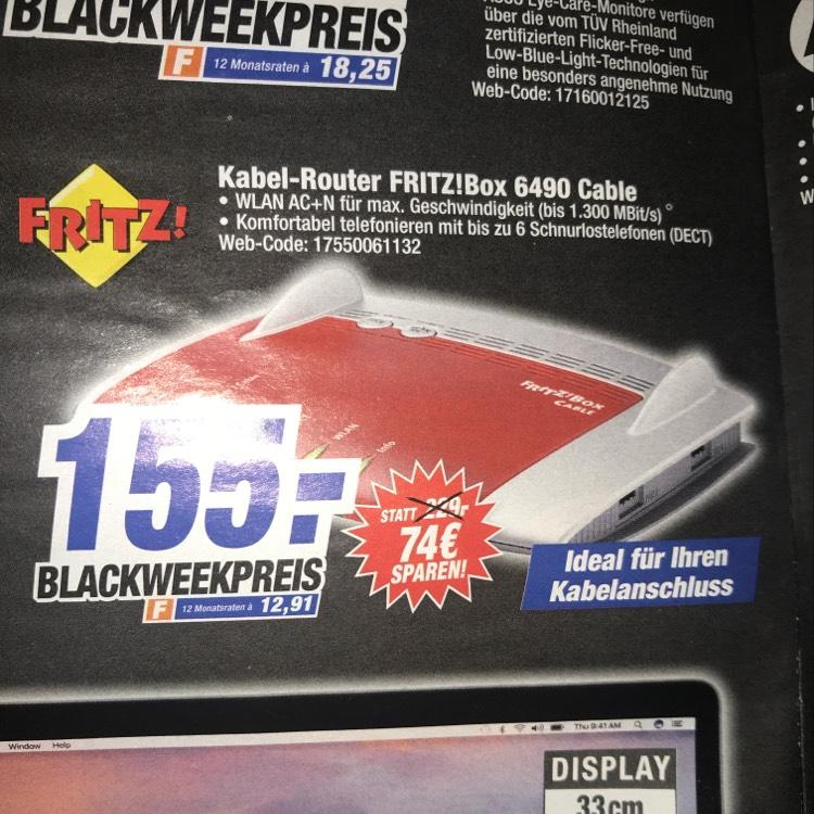 [Lokal in 74321] HEM Expert: AVM Fritz!Box 6490 cable