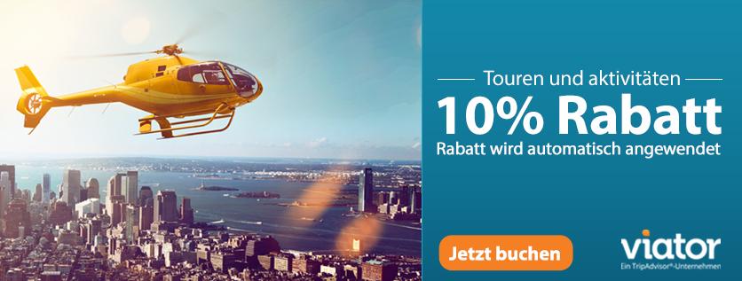 (Shoop) Viator: 7% Cashback + 20€ Shoop.de-Gutschein* ab 150€ + 10% Rabatt auf alles