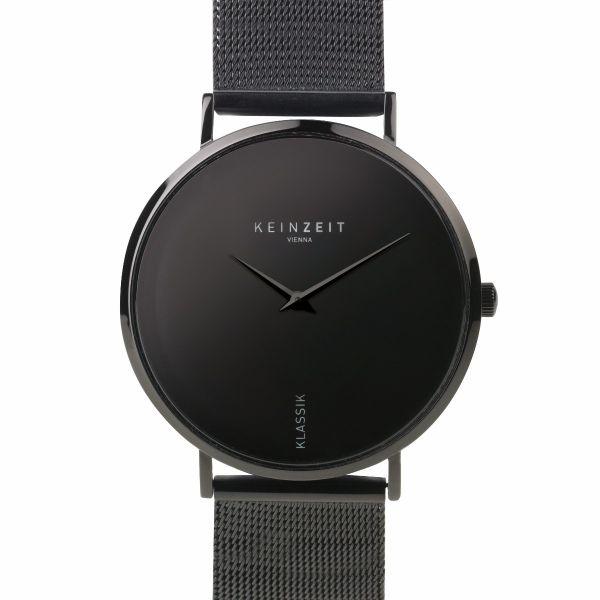 Armbanduhr von KEINZEIT - Total Black | Name ist Programm | Black Friday Deal 25%